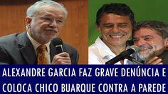 Alexandre Garcia faz grave denúncia e coloca Chico Buarque contra a parede