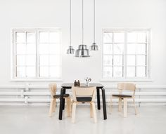 Levels lamps, Bento kitchen table and chairs