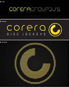 Resideño de identidad visual de marca + naming para Corera - Disc Jockeys by thisSideUp.