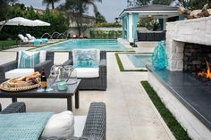 Looking for Outdoor Space ideas? Browse Outdoor Space images for decor, layout, furniture, and storage inspiration from HGTV. Hardscape Design, Concrete Patios, Outdoor Rooms, Outdoor Living, Outdoor Decor, Backyard Retreat, Backyard Ideas, Backyard Layout, Backyard Seating