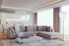 Elegant Home Interior Design with Luxury Living Room : Fascinating Classic Meets Modern Living Room Decor With White Coffee Table And Grey S. Beige Living Rooms, Elegant Living Room, Living Room White, White Rooms, Living Room Paint, Living Room Modern, Living Room Designs, Small Living, Living Area