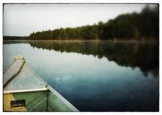 Favourite pastime - paddling in a canoe in Ontario