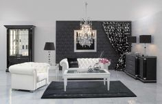 Luxury-Living-Room-black-and-white-decoration