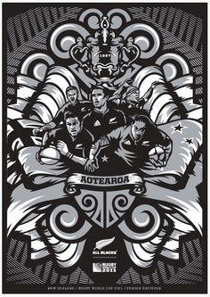 Aotearoa. All Blacks, rugby. New Zealand