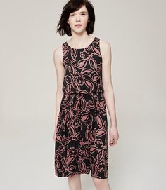 Image of Painterly Floral Blouson Dress