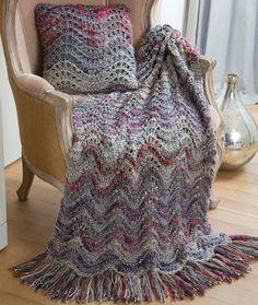 Elegant Lapghan & Pillow Knitting Pattern | Red Heart