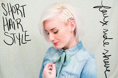 short hair style --> faux side shave. | indiejane photography