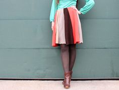 diy swing skirt from sweaters