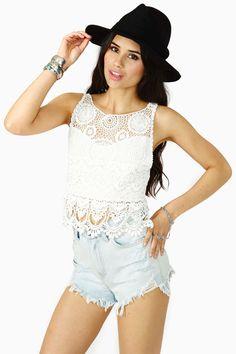 Valley Girl Crochet Top