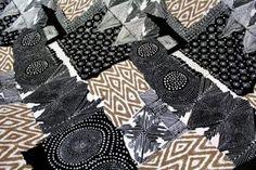 Black, White & Taupe Tribal Printed Lycra
