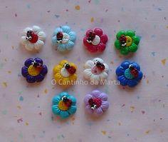 Flores com joaninhas