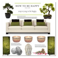 """""""The Secret Of Being Happy"""" by asteroid467 ❤ liked on Polyvore featuring interior, interiors, interior design, home, home decor, interior decorating, Emissary and Nearly Natural"""