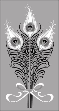 Art Nouveau Design Motifs | ... Art Nouveau stencils online. Page 4 of our Art Nouveau motif stencil