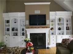 Custom made built in fireplace bookshelve units handcrafted