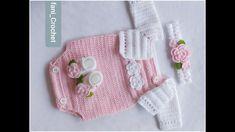 Crochet Onesie, Crochet Baby Cardigan, Crochet Bebe, Crochet Baby Clothes, Knit Crochet, Baby Booties Knitting Pattern, Baby Knitting, Crochet Toddler, Crochet For Kids