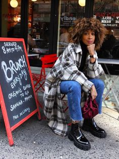 Ny Style, Mode Style, Fall Winter Outfits, Autumn Winter Fashion, Fall Fashion, Fashion Outfits, Fashion Trends, Penny Lane Coat, Plaid Coat