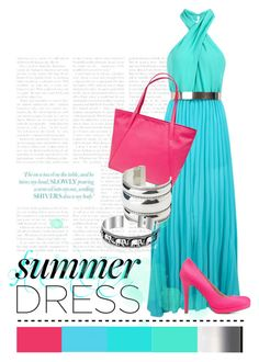 Bright Summer Dress by symmetrix on Polyvore featuring polyvore, fashion, style, Charlotte Russe, MANGO, Reed Krakoff and Bling Jewelry