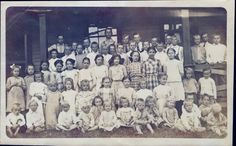 Group photo of the residents at the Swedish Christian Orphanage in Cromwell, Connecticut. This photo is circa 1907. Esther is in the third row, fifth from the left.