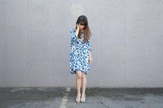 Indigo Shibori Cocoon Dress by laurenwinterco on Etsy