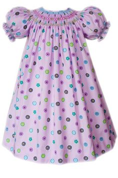 957565b1793 Lavender Girls Easter Spring Smocked Dress--Carousel Wear Lavender Dresses