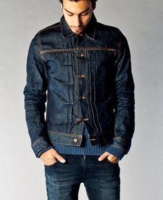 Sonny Dry Dirt Organic Denim - Nudie Jeans Co. A dry version of Sonny to break… Denim Boots, Denim Jacket Men, Denim Shirt, Nudie Jeans, Raw Denim, Denim Vintage, Edwin Jeans, Love Jeans, Denim Fashion