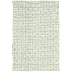Test drive this rug in your space.Order a swatch by adding it to your cart.Bunny Williams fell in love with this subtle diamond pattern in an easy-care cotton weave, part of her collection for Dash