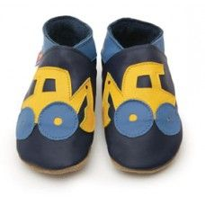 Digger Navy Soft Leather Baby Shoes Made and supplied by Star Child Shoes in #Leicestershire - £18.00