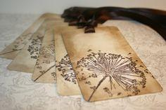 Wedding Wish Tree Tags - Dandelion wishes - Vintage Appearance Tags - Set of 5. $6.50, via Etsy.