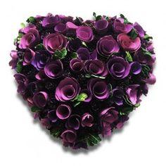Guirlanda de Coração Lilás e Rosa 18cm