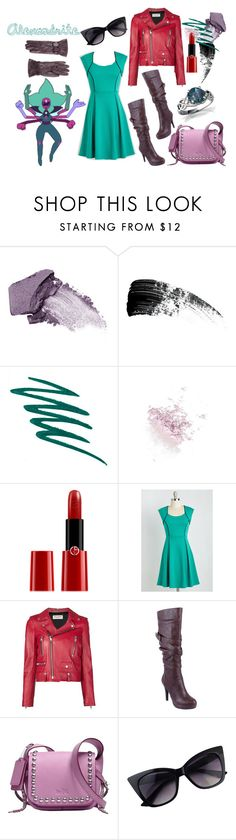 """Steven Universe Fusion Inspired #4 - Alexandrite"" by starberry-cupcake ❤ liked on Polyvore featuring Urban Decay, Hourglass Cosmetics, Stila, Topshop, Armani Beauty, Yves Saint Laurent, Coach and Salvatore Ferragamo"