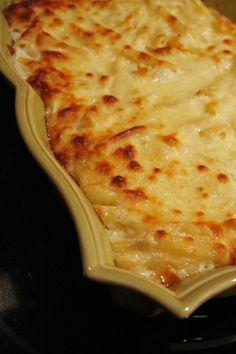 Decadent Three Cheese Pasta Bake with Ricotta, Parmesan & Mozzarella cheese