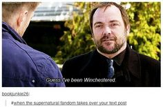 Supernatural taking over posts should officially be called being Winchester's!