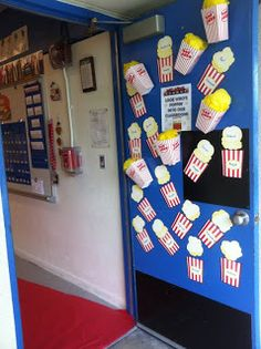My Hollywood Themed Classroom Door. From: Lights, Camera, 4th Grade!: Hollywood Theme