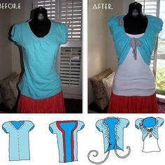 DIY T-Shirt shrug