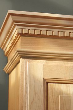 Regency Crown Moulding combines soaring heights with architectural details, making an awe-inspiring focal point in rooms where drama is quite expected. Woodworking Furniture, Wood Furniture, Woodworking Plans, Woodworking Projects, Furniture Design, Wooden Door Design, Main Door Design, Wooden Doors, Wood Molding