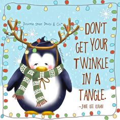 Don't get your twinkle in a tangle.