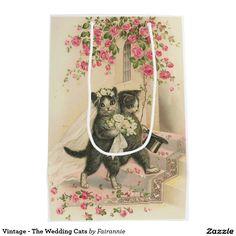 Vintage - The Wedding Cats Medium Gift Bag