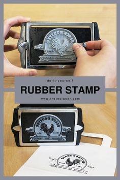 The perfect stamp for any occasion. We used our Speedy 360 120 watt to engrave this design. Check out our step-by-step tutorial and FREE graphics files! Trotec Laser, Free Graphics, Stamp, Personalized Items, Paper, Check, Design, Stamps, Design Comics