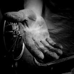 "Worker hand. How america was built! I want to say ""thank you"" to all the people that help keep America & the world running! Scott"