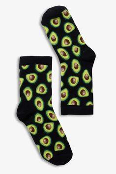 Monki Polly sock avocado in Black