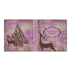 Shop Lilac Snowflakes and Deer Christmas Holiday Binder created by christmasshop. Personalize it with photos & text or purchase as is! Christmas Deer, Christmas Holidays, Lilac, Lavender, Christmas Stationery, Custom Binders, Return Address, Address Labels, Beautiful Christmas