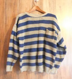 The Vintage Rugby Striped Sweater by VintageRevolved on Etsy, $32.00