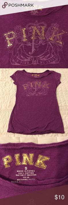 Victoria's Secret Pink T-Shirt Size S NWOT never worn purple Victoria's Secret T-Shirt PINK Victoria's Secret Tops Tees - Short Sleeve