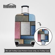 Dispalang Waterproof Elastic Luggage Protective Cover For Inch Trolley Suitcase Case On Travel Baggage Denim Plaid Covers Luggage Cover, Travel Luggage, Travel Bags, Cheap Luggage, Luggage Bags, Trolley Case, Travel Accessories, Cover Design, Suitcase