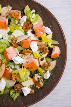 An easy and #delicious #lunch recipe for smoked #trout #waldorf #salad