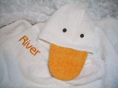 Personalized Hooded Duck Towel for Bath, Beach, or Pool $27 #thecraftstar
