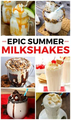 Milkshake recipes - I want to try every single one of these!