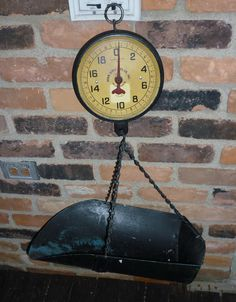 Vintage scale that was located in the produce and meat section of the grocery store - also used at candy/nut counters, hardware stores for nuts/nails/etc.
