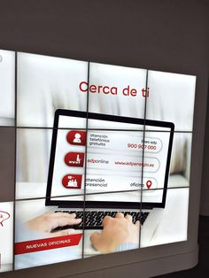 Detalle Digital Signage en la oficina de EDP, Murcia