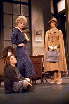 "The Brilliant Dorothy Loudon in her Tony winning performance as Miss Hannigan and Andrea McArdle as the title character in the Original Broadway Production of ""Annie""."